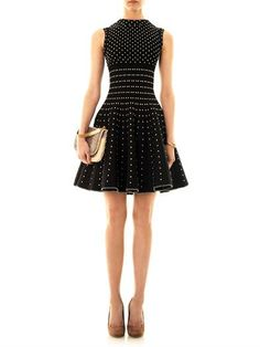 AZZEDINE ALAÏA Pois luxe wool dress