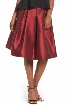 Eliza J Pleated Mikado Skirt