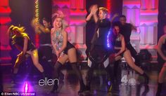 Busting their moves: In another publicity stop, Julianne and Derek performed a dance from Move on The Ellen DeGeneres Show