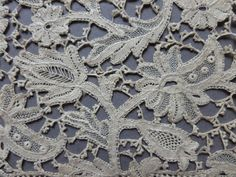 "A 142"" 3 60 Metre Length of Unused Victorian Needle Made Youghal Lace 4 1 4"" 
