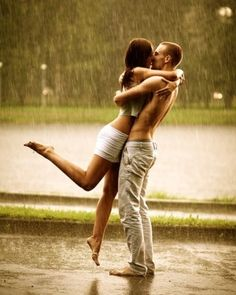 aww #love #couple #rain Give me a moment like this...