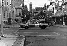Detroit Police Car in Greektown  Black and White by camstudiostore