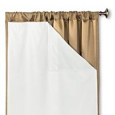 "Blackout Liner Pair Curtain Panel White (54""x80"") - Eclipse™ : Target"