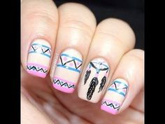 Dreamcatcher Nails Tutorial #nailart - bellashoot.com