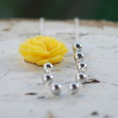 yellow and gray asymmetrical bridesmaids necklace
