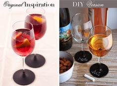 Always Order Dessert: Inspired Entertaining: DIY Chalkboard Wine Glasses -- Food Blog and Recipes
