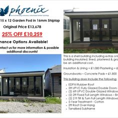 Phoenix timber buildings offers bespoke, unique and affordable garden buildings, timber buildings and timber rooms in surrey, hamshire and berkshire. Timber Buildings, Unique Buildings, Garden Buildings, Garden Pods, Building Extension, Site Office, Hobby Room, Surrey, Cladding