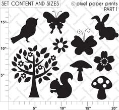 Woodland Silhouettes - Illustrations & Cliparts - Woodland Silhouettes - MYGRAFICO DIGITALS - Clipart, Digital Papers, Stamps & Party Printa...