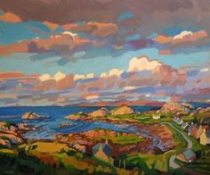 Evening in Kintra, 120x90cm, Oil on board Lachlan Goudie