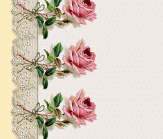 Colorful fabrics digitally printed by Spoonflower - Georgiana ~ Rose Swag Border Print ~ Dauphine ~ Double Border Print, Sheer Curtains, Chiffon Fabric, Surface Design, Custom Fabric, Scrapbook Paper, Spoonflower, Decorative Items, Swag