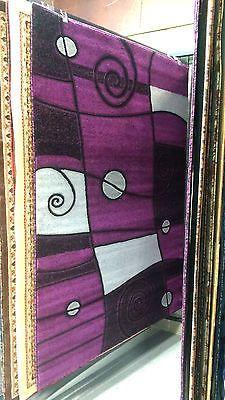 abstract 5x8 purple gray area rug modern carpet