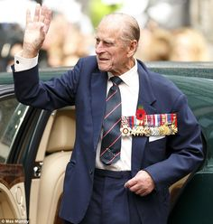 Every Queen needs her Prince. Philip, Duke of Edinburgh, who served in the Royal Navy, including throughout WWII, wore 17 medals and decorations at the Remembrance Day ceremony. Today Pictures, London Today, Prince Phillip, Princess Margaret, British Monarchy, King George, Duchess Of Cambridge, Queen Elizabeth, England