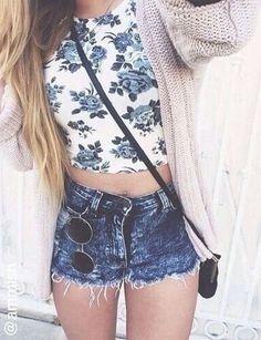#summer #fashion / blue floral print