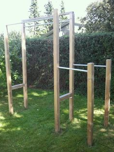 My homemade training station for dips, pull-ups, etc.                                                                                                                                                     More