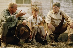 Secondhand Lions- Michael Caine, Haley Joel Osment, Robert Duvall  http://images.zap2it.com/images/movie-32442/secondhand-lions-10.jpg