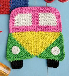 60s Van Dishcloth by Mary Beth Temple Tutorial ✿Teresa Restegui http://www.pinterest.com/teretegui/✿