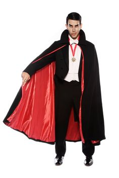 delux dracula costume with cape halloween - Halloween Dracula Costumes