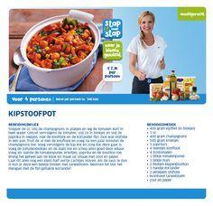 Kipstoofpot - Lidl Nederland Healthy Diners, Paleo Carrot Cake, Banana Flour, Wellness Mama, Dutch Recipes, Cloud Bread, Good Healthy Recipes, Light Recipes, Quick Easy Meals