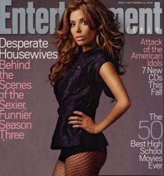 Eva Longoria, IMTA 1998, on the cover of Entertainment Weekly.