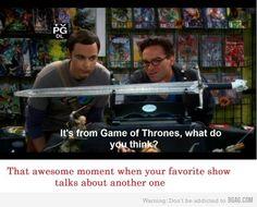 ahhh love big bang aanndd game of thrones!