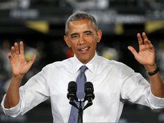 Spoken like a true politician. AP OBAMA A USA MI