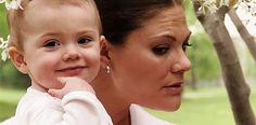 Crown Princess Victoria with daughter Princess Estelle.