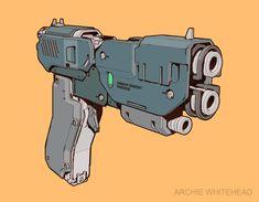 ArtStation - Energy Handgun, Archie Whitehead