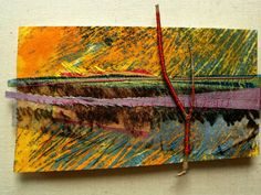 Sarah Burgess | Textile Study Group - Landscape, printed, pieced and stitched cotton, viscose threads, twig