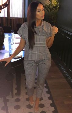 New chequered loungewear. Very rare and a must for your casual days or fitness session. and makes a lovely gift Cute Casual Outfits, Chic Outfits, Casual Wear, Fashion Outfits, Work Outfits, Fashion Ideas, Lounge Outfit, Lounge Wear, Loungewear Outfits
