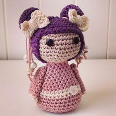Crochet Geisha Doll. Amigurumi by Blossom Bazaar ✿⊱╮Teresa Restegui http://www.pinterest.com/teretegui/✿⊱╮
