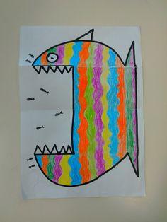 Folded paper fish craft