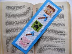 Minecraft Character Cross-Stitch Bookmark. £4.25, via Etsy.