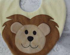 Gato babero babero para bebé babero animales polar por DinkyDimples