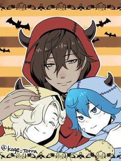 Sayo,Gokotai et Okurikara Anime Halloween, Happy Halloween, Touken Ranbu, Katana, Manga, Dance Images, Kawaii Chibi, Pop Surrealism, In My Feelings