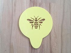 Bee stencil for beautiful coffee art or cake decoration. The perfect gift for any beekeeper...