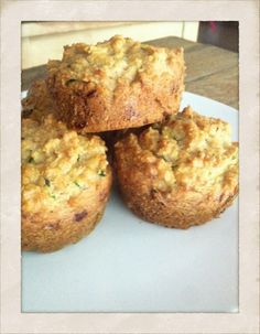 Zucchini muffins made with almond flour, flax and chia. Gluten free and vegan! Enjoy :)