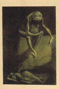 """Thou Shalt Not Kill"" by Alfred Kubin (1900-1901)"