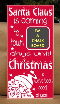 Christmas Countdown Advent Vinyl Wooden Subway by HDVinylDesigns, $32.00