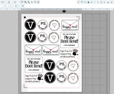 Printable Kraft Paper Sticker Sheets (Free Set of Designs)