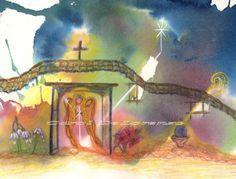 Watercolor Painting Angel Art Angel Painting by caroldelorenzo