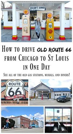 Driving Old Route 66 from Chicago to St Louis. Driving Route 66, Route 66 Road Trip, Road Trip Hacks, Road Trips, Usa Travel Guide, Travel Usa, Travel Guides, Travel Tips, Old Route 66