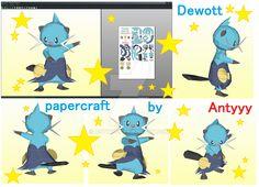 Dewott papercraft commission by Antyyy.deviantart.com on @DeviantArt