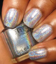 This is what I currently have on my nails Glitter Gal Silver 3D Holo