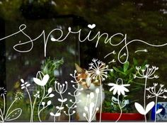 Ara Spring chalk pens Spring chalk pens Keeping The Weeds Out - A Must! Chalk Pens, Chalk Markers, Chalk Art, Spring Window Display, Spring Drawing, Chalk Writing, Chalk It Up, Window Art, Chalkboard Art