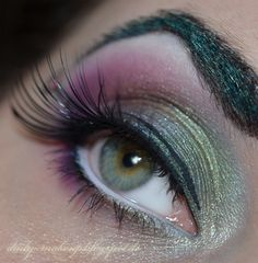 Sailor Pluto inspired make up by @Anna Fein http://daily-makeup.blogspot.de/2013/02/schminkaktion-sailor-pluto.html