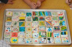 Kids cookie mosiac! Let your kids decorate their own cookie tile! #cookies #modernbite
