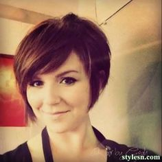 The Cute Short Brunette Bob Haircut 2014