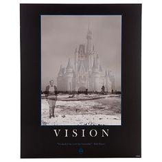 Walt Disney walking his dream. Walt imagining the castle - VISION