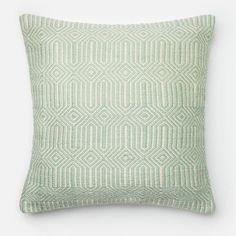 Loloi Pillow - Aqua/Ivory