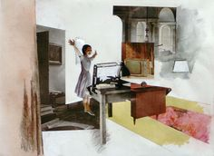 Richard Hamilton, Interior Study (b), 1964 Interior Design Website, Best Interior Design, Interior Rendering, Interior Paint, Cultura Pop, Richard Hamilton Pop Art, Collages, Multimedia Artist, Spirited Art